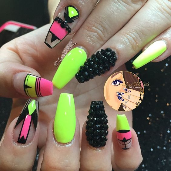 15 Summer Neon Nail Designs You Will Love