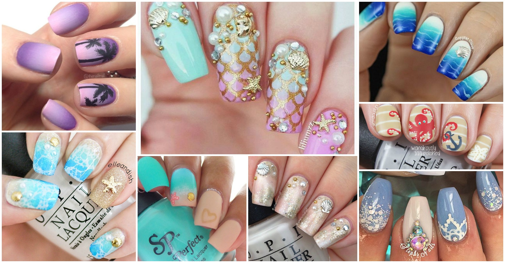 20 Lovely Ocean Inspired Nail Designs That Scream Summer