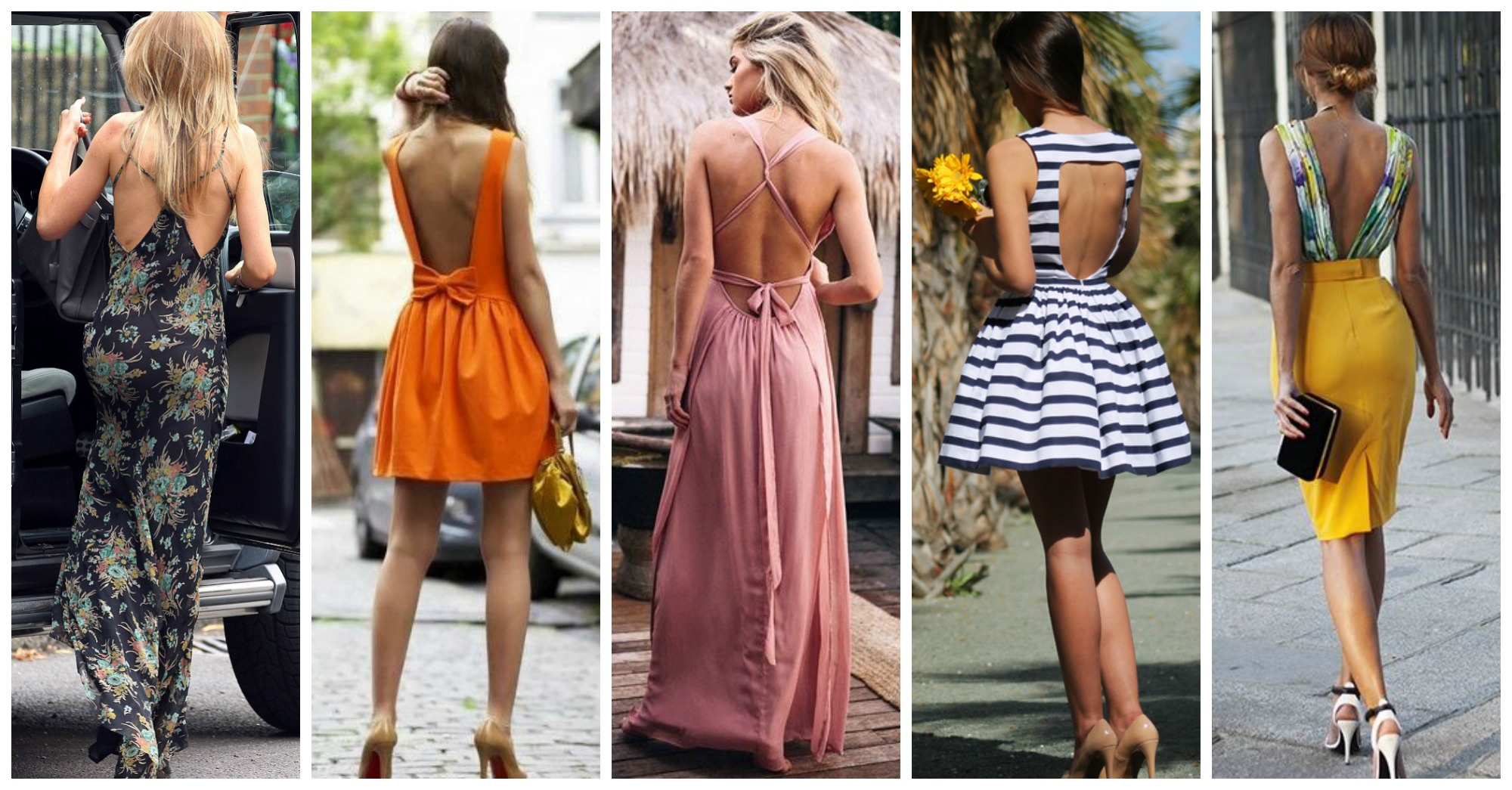 16 Fashionable Backless Dresses and Tops to Wear This Summer