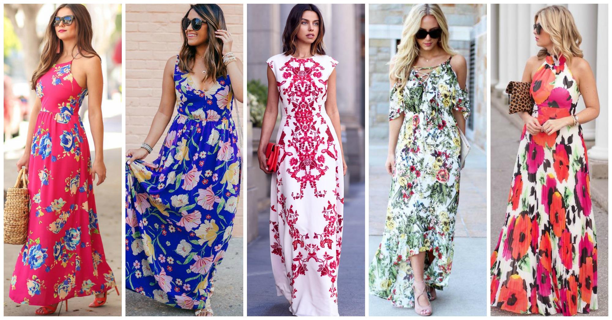 10 Fabulous Floral Maxi Dresses to Wear Now