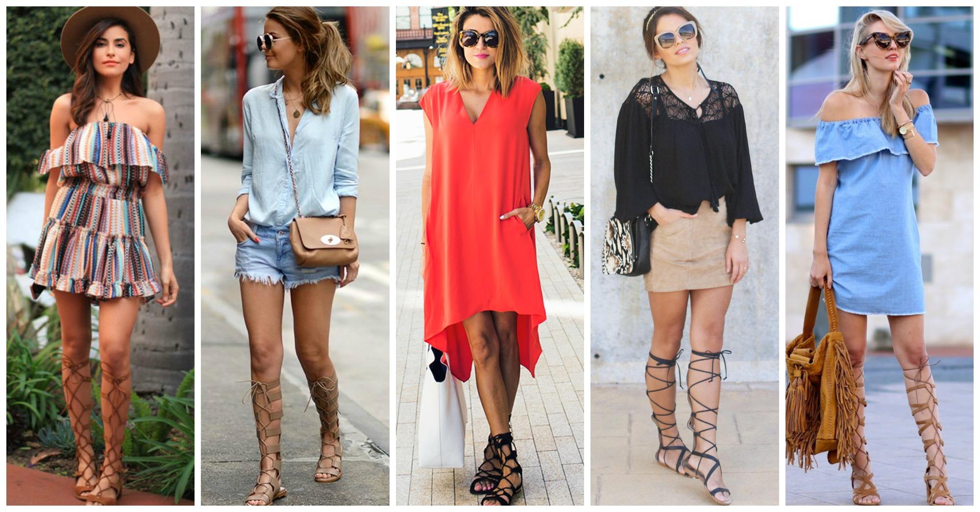 15 Fashionable Ways to Wear Gladiator Sandals