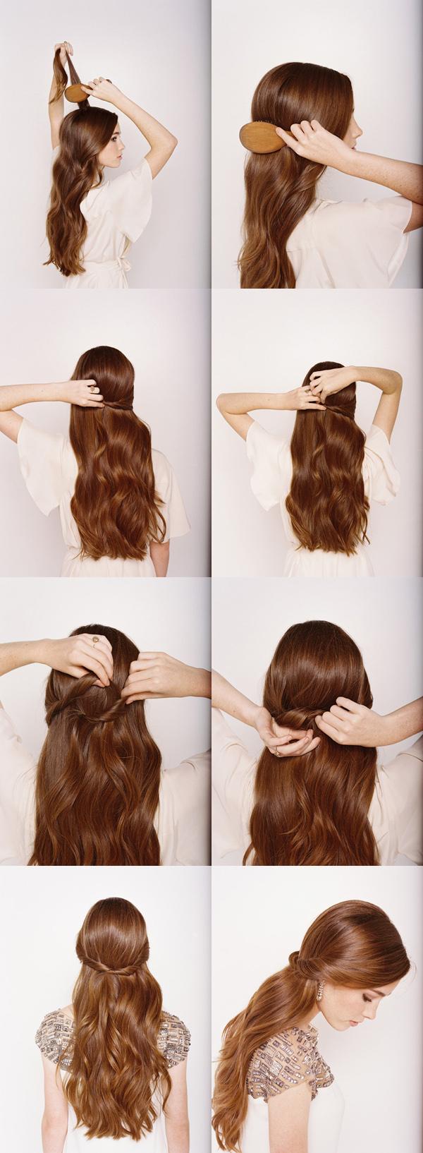 красивые простые прически длинных волос фото