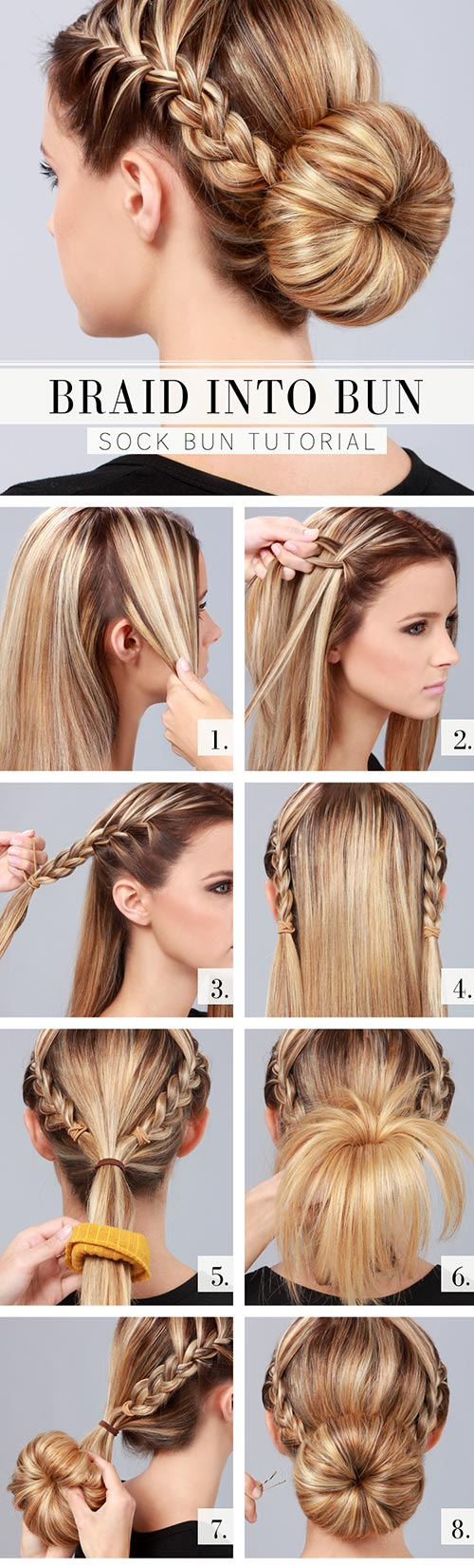 15 Step by Step Hairstyle Tutorials to Do in Less Than 5 Min