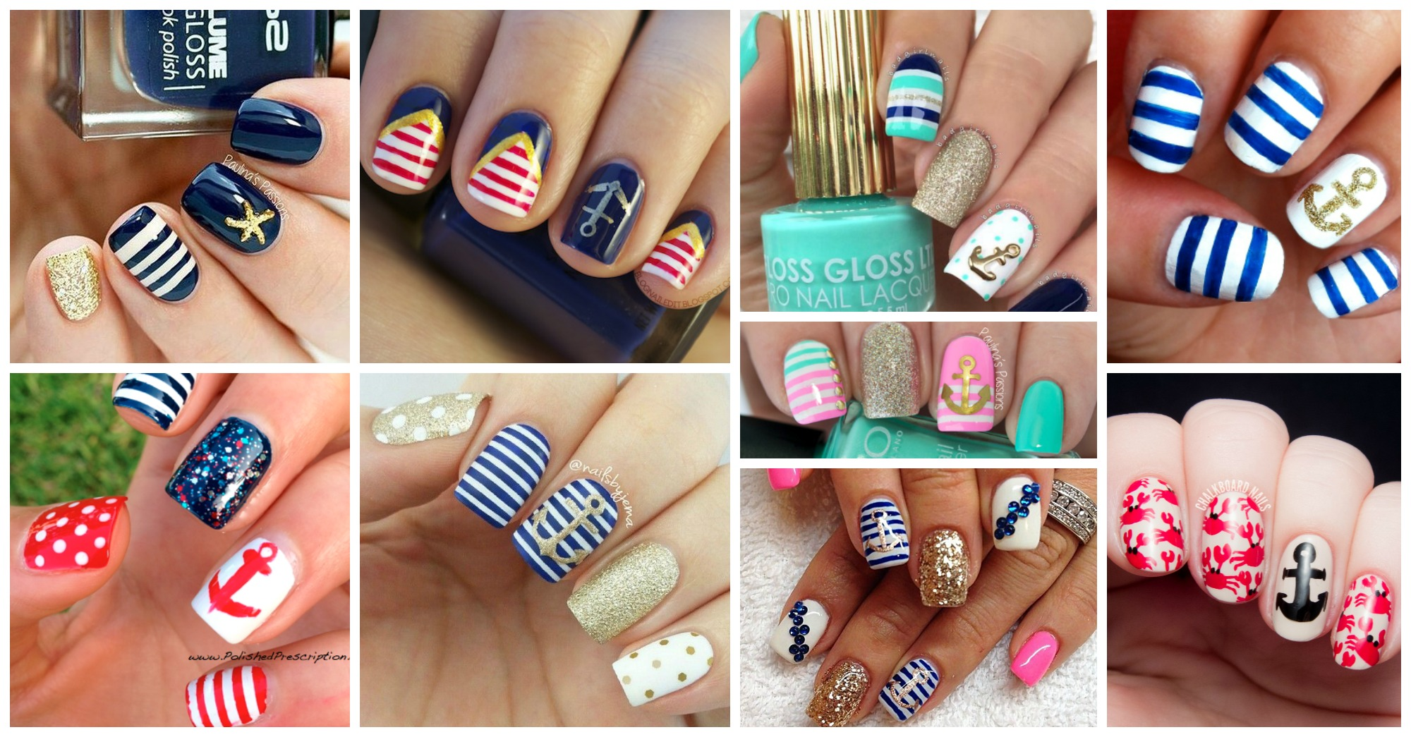 20 Adorable Nautical Nail Designs You Need to Try This Summer