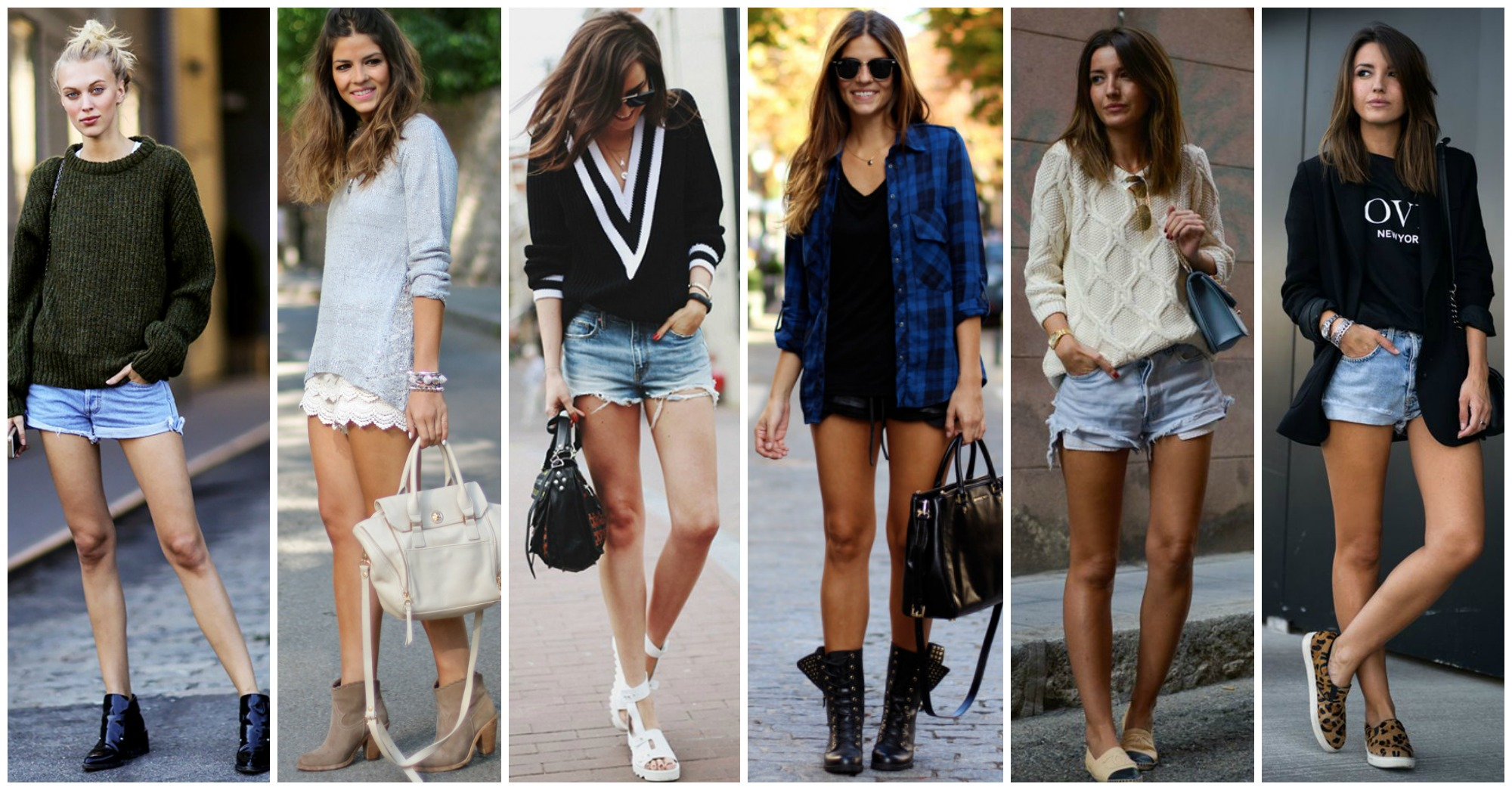 10 Lovely Pre-Fall Outfits with Sweaters and Shorts