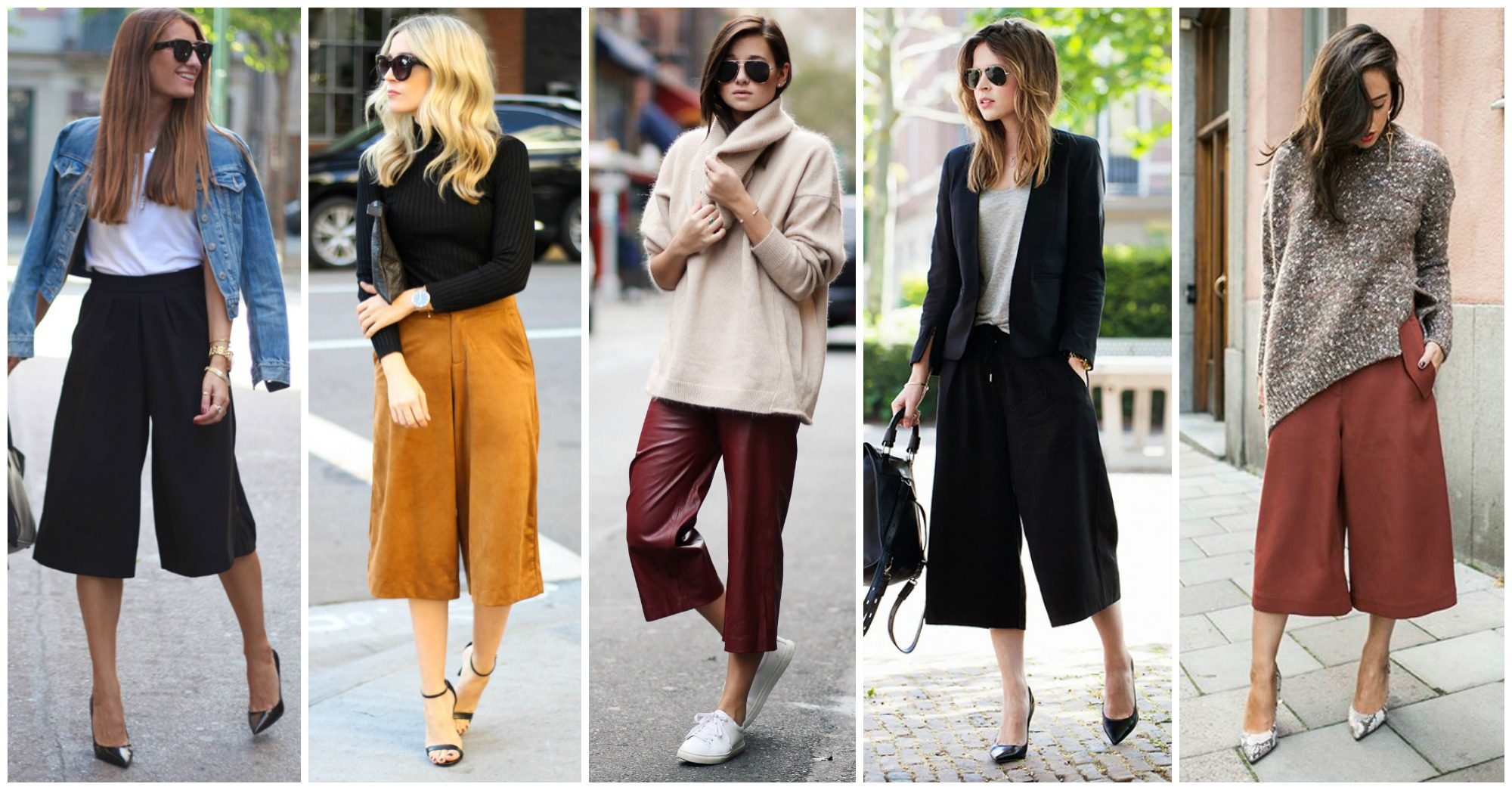 18 Stylish Ways to Wear Culottes This Fall