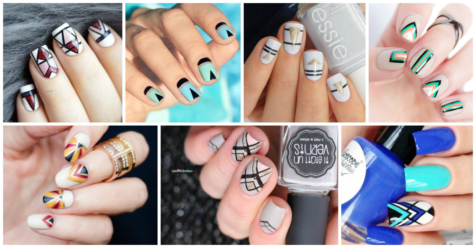 10 Beautiful Geometric Nails That Will Catch Your Eye