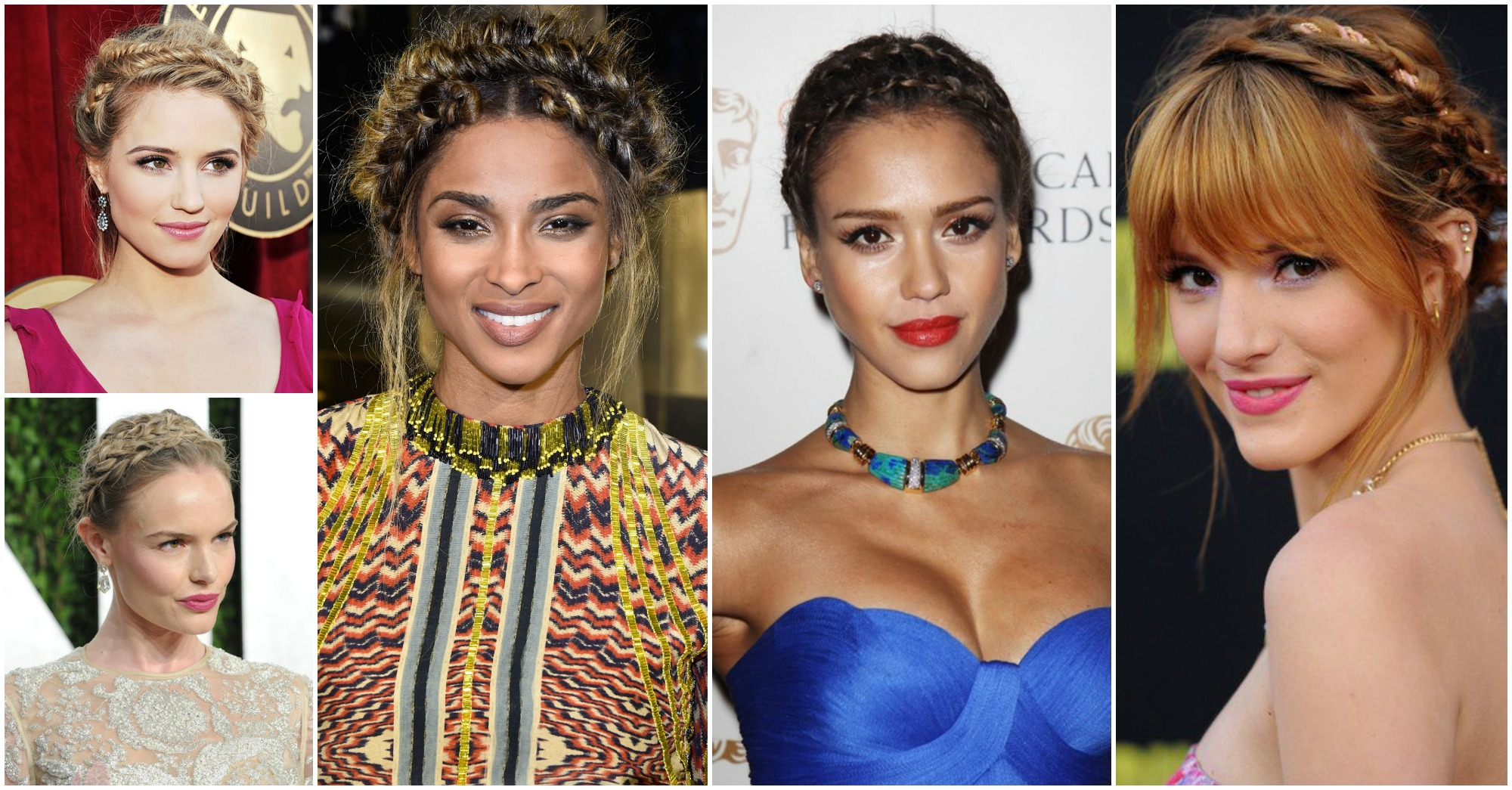 10 Stunning Crown Braids Worn by Celebrities