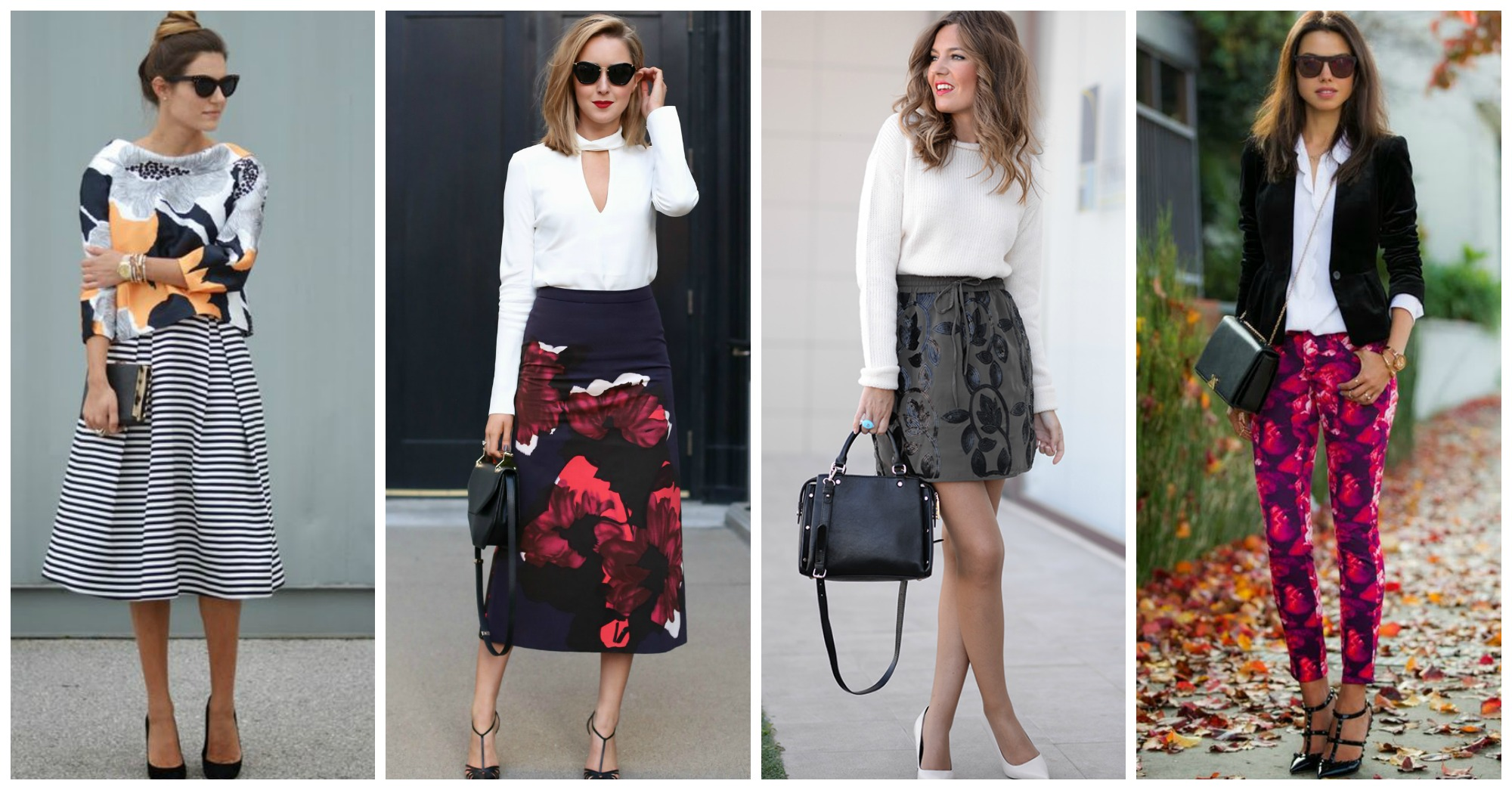 14 Trendy Outfits with Large Floral Prints to Wear This Fall