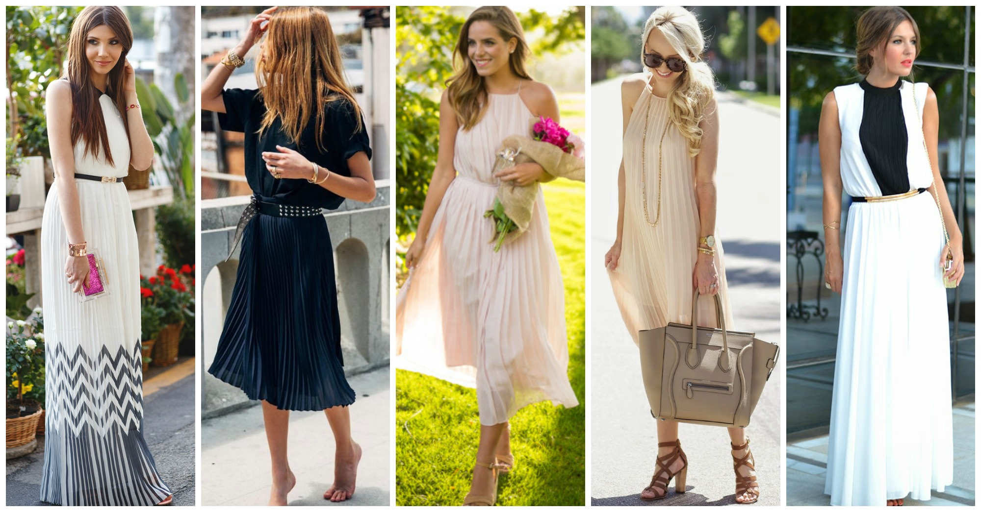 12 Charming Pleated Dresses To Wear Till The End Of The Summer