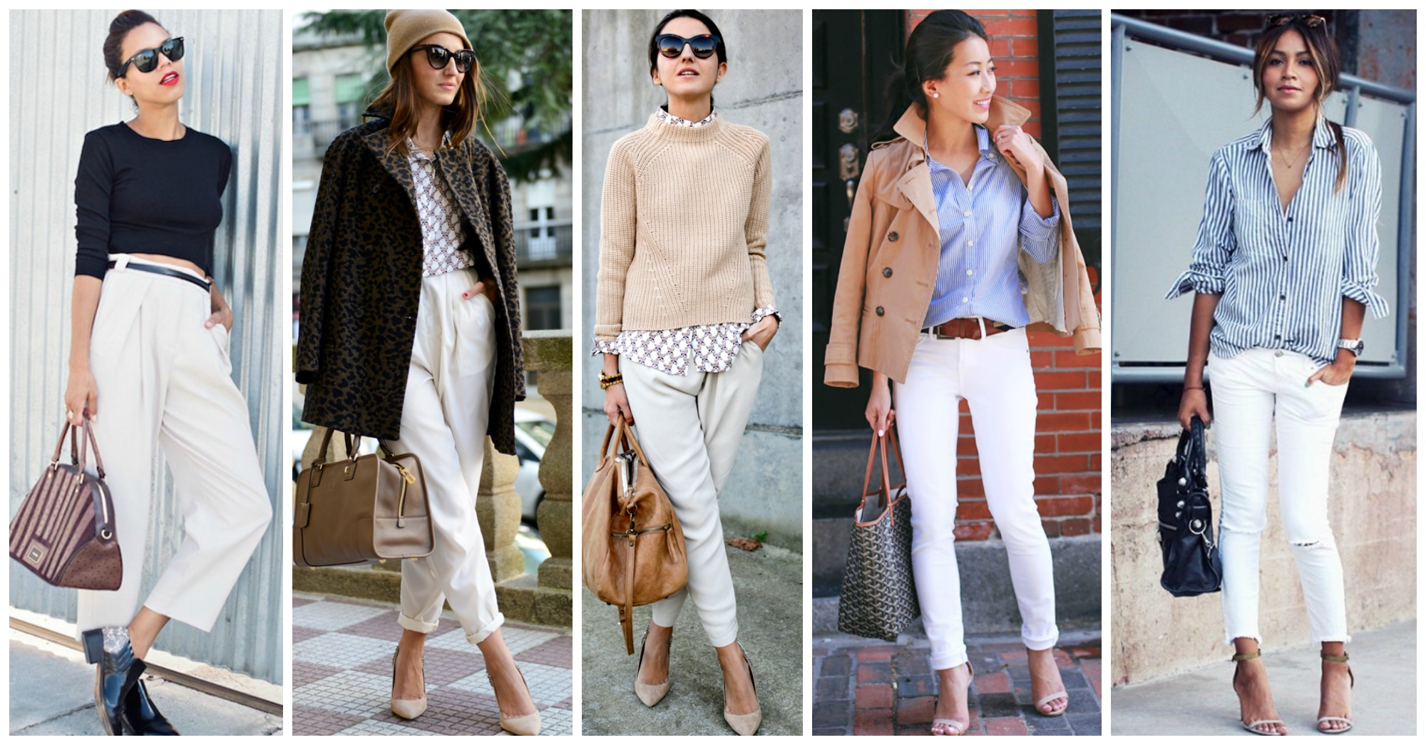 10 Chic Ways to Wear Your White Pants in Fall