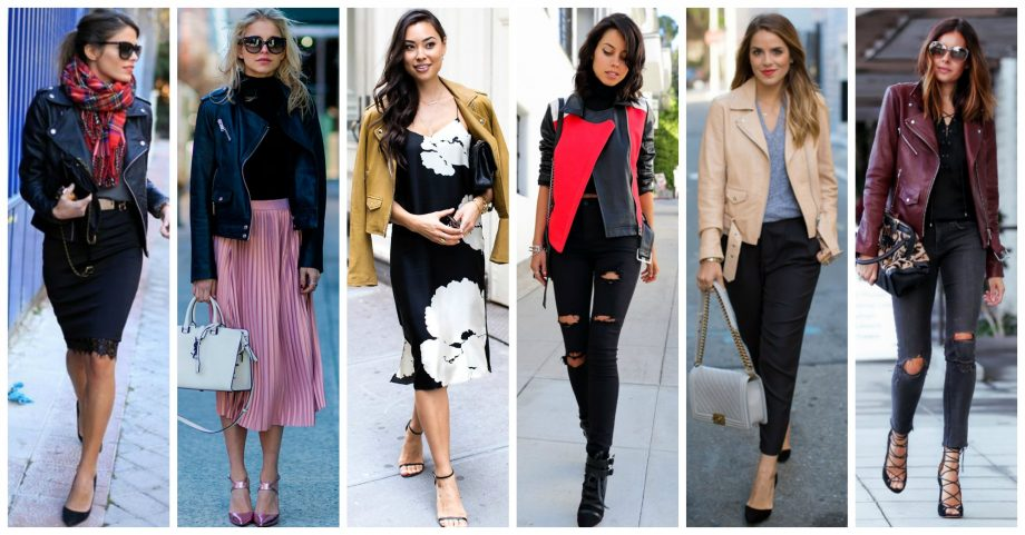 17 Outstanding Outfits with Leather Jackets to Wear This Fall