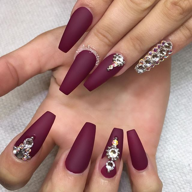 13 cute burgundy nails that will catch your eye nail7 prinsesfo Image collections
