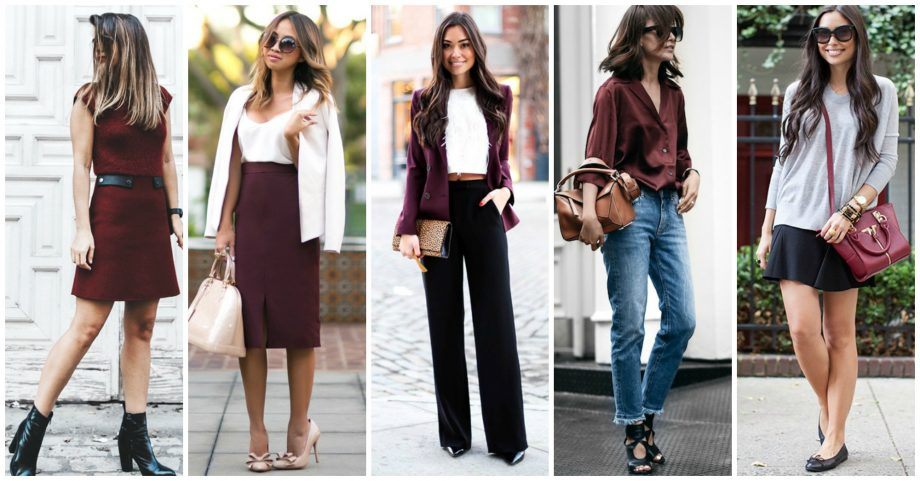 16 Mesmerizing Burgundy Outfits Will Take Your Look To The Next Level
