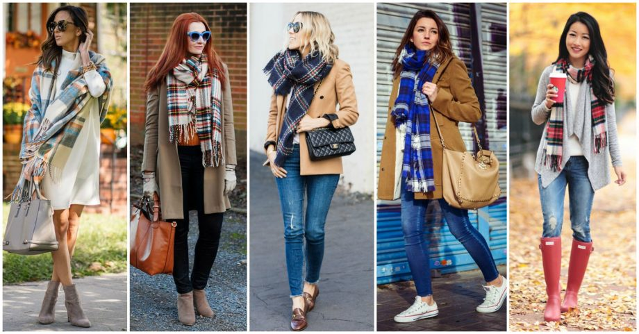 16 Ideas to Spice Up Your Look With a Tartan Scarf