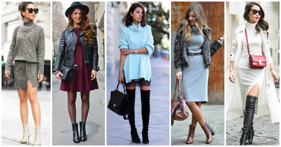 14 Fashionable Fall Outfits With Dresses
