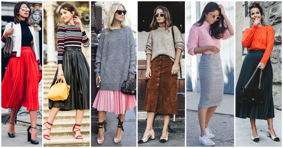 14 Ways to Wear Midi Skirts in Fall