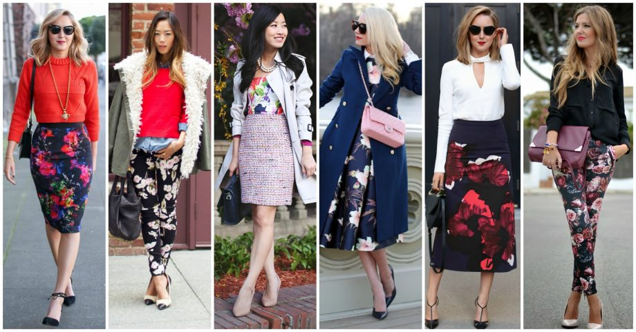 Fashionable Ways to Wear Floral Patterns in Fall