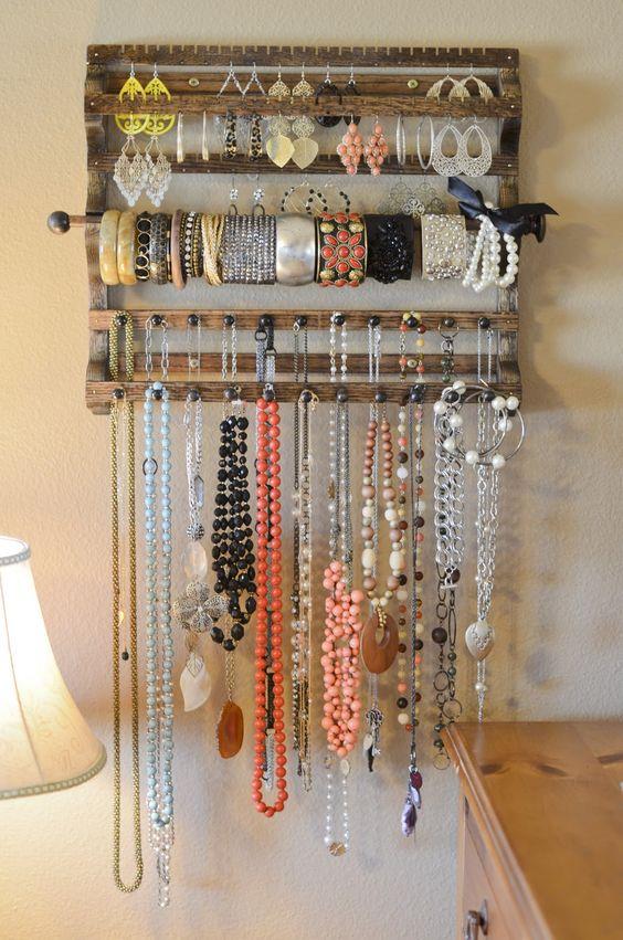 10 awesome wooden jewelry storage ideas