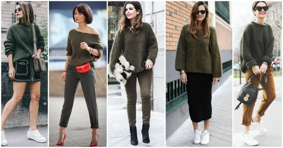 12 Chic Ways to Style Your Khaki Sweater