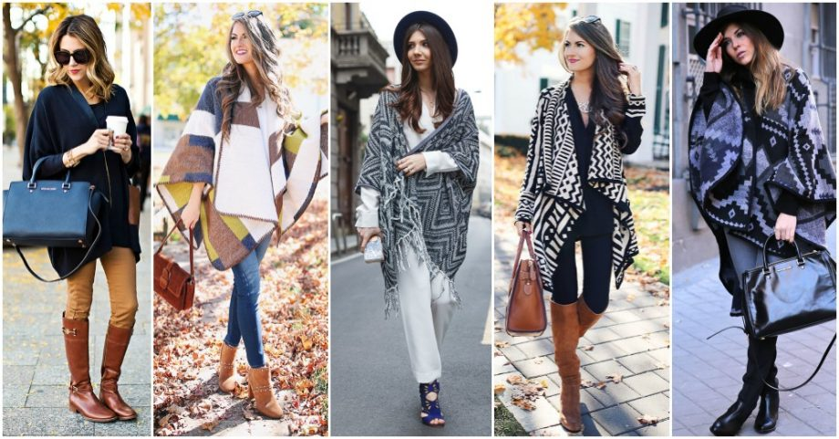 12 Gorgeous Ways to Wear Ponchos This Fall