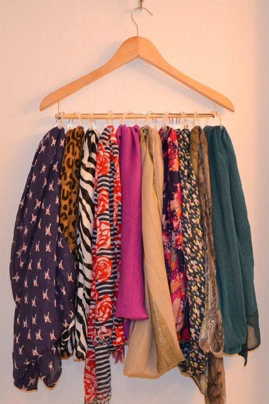 14 Diy Storage Hacks For Girls With Too Many Scarves