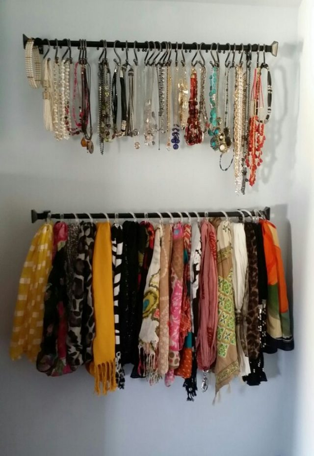 14 diy storage hacks for with many scarves