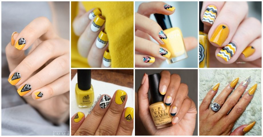 Mustard Nails That Will Catch Your Eye