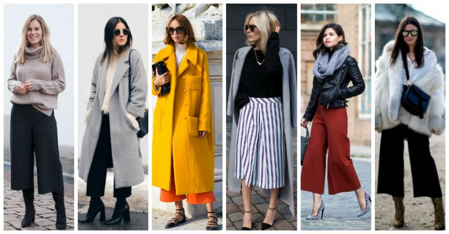 16 Ways to Make Culottes Work for the Winter