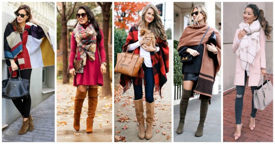 Large Scarves and Ponchos Are In This Winter