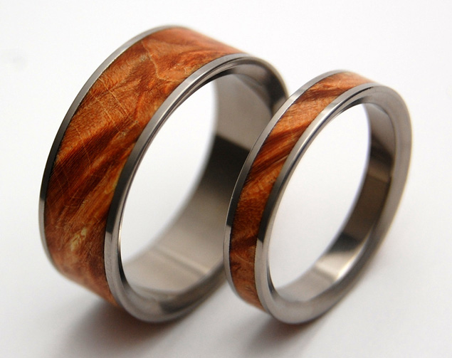 Celebrating Life and Natural Beauty with Wooden Wedding Bands