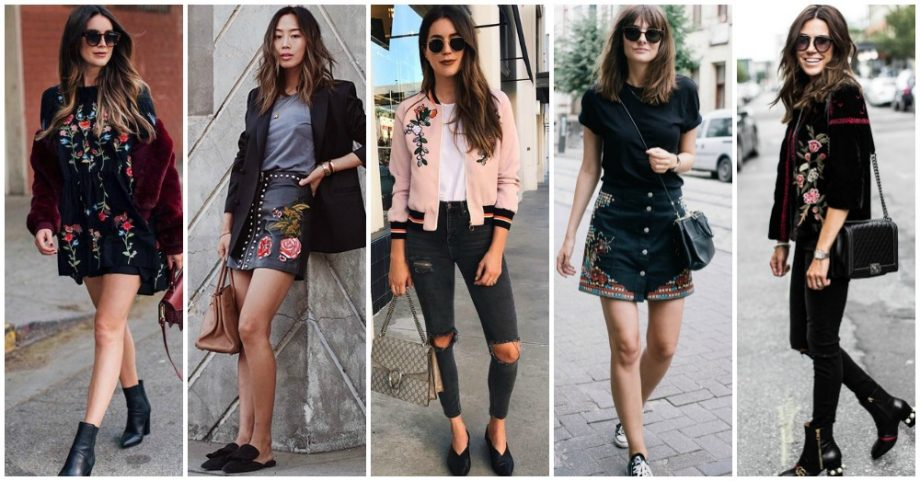 15 Beautiful Ideas of How to Wear Embroidered Patches All Year Round
