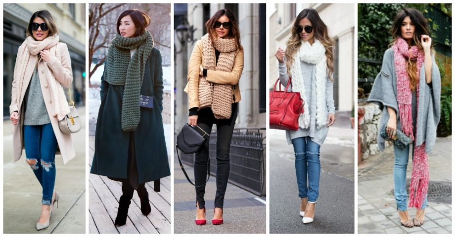 Knit Scarves are Totally In