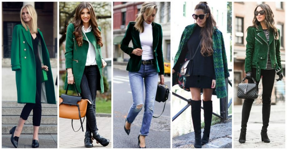 11 Fashionable Way to Wear Green Outerwear All Year Round