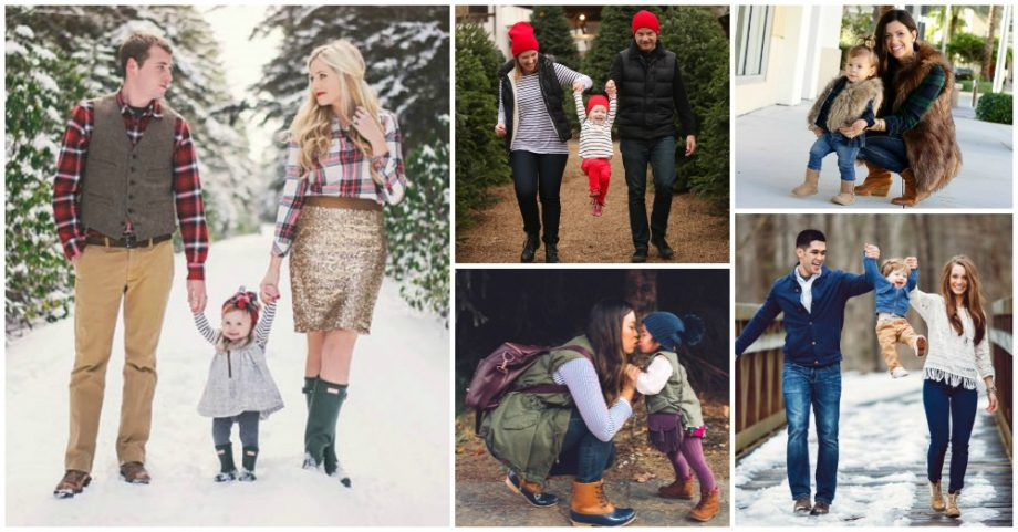 Serious Mother-Daughter Winter Outfit Insiration