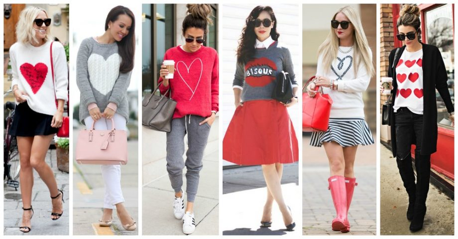 Outfits with Hearts and Lips for Valentine's Day