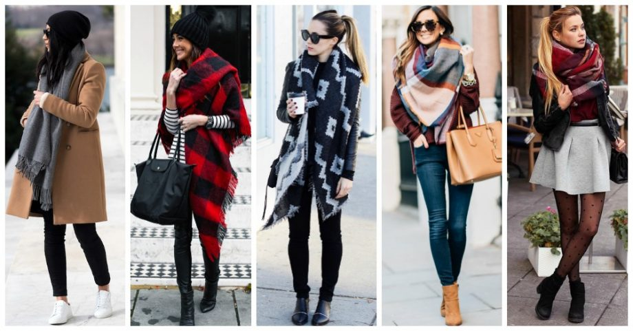 10 Warm Blanket Scarves for the Freezing Days