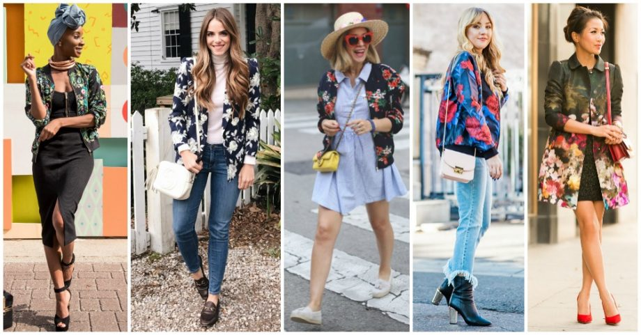 15 Street Style Outfits with Floral Jackets That You Will Like