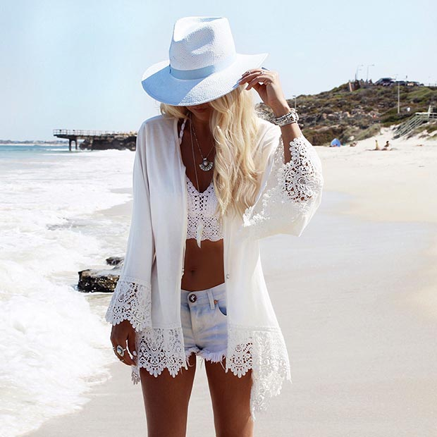 summer white outfit
