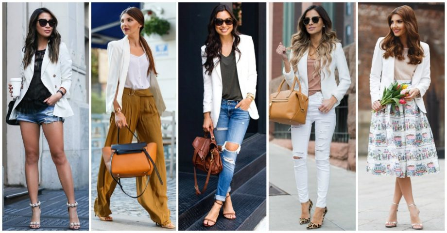 Fresh Ideas for Wearing White Blazer This Spring