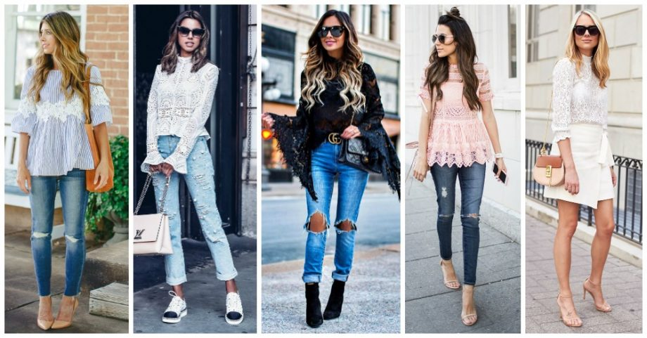 Amazing Outfits with Lace Blouses to Wear This Spring