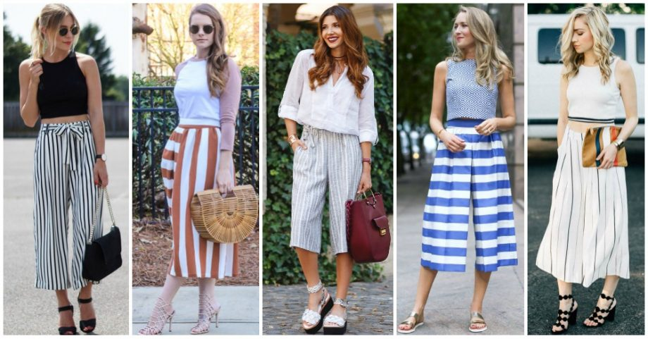 Striped Culottes are In This Spring