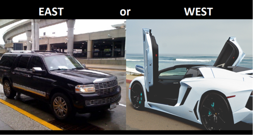 West Coast vs. East Coast Cars