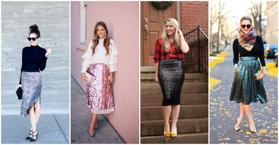 How To Create A Glam Sequin Skirt Outfit