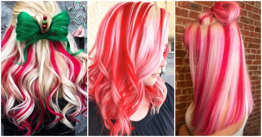 Candy Cane Hair Is The Hottest Holiday Trend
